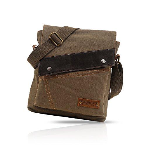 Crossbody Bag Viaje Trabajo Vintage Marrón Lona Hombre Mensajero Estudiante Bandolera Messenger Escuela Verde Bolso FANDARE Bag Mujer Bolso Shoulder H18Ivq