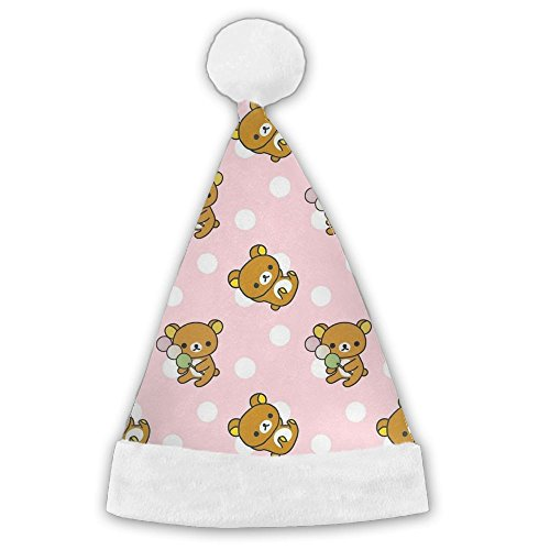 UICMIL LOCPL Christmas Hat 3D Printed Rilakkuma Cute Pattern Great For Christmas Parties,perfect For Kids Medium - Zombie Zoo Keeper Costume