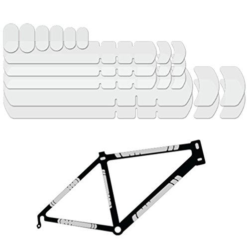 Lizard Skins Clear Adhesive Frame Kit Clear, One - Frame Protection