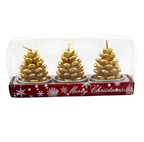 (ACVIP Christmas Fancy Nolvelty Tea Lights Party Decoration Candles (Pine Cones))
