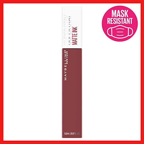 Maybelline SuperStay Matte Ink Liquid Lipstick, Long-Lasting Matte Finish, Highly Pigmented Color, Mover, 0.17 Fl; Oz