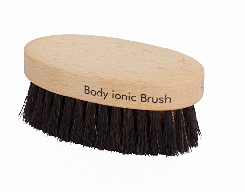Redecker Fine Bronze Wire/Horsehair Massage Brush Body Ionic with Oiled Beechwood Handle, 3-1/2-Inches