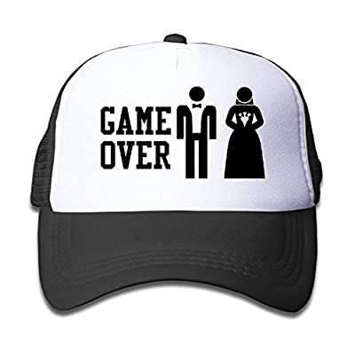 Flower Kids Game Over Funny Bachelor Party, Wedding Groomsman Humor Unisex Mesh Hat Trucker