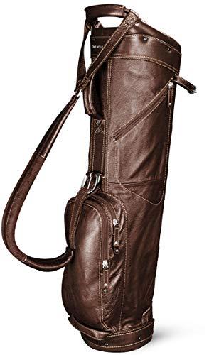 Sun Mountain 2019 Golf Leather Sunday Bag - Brown-Khaki