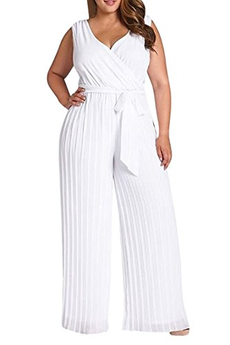 Womens Sleeveless Ruched Jumpsuit Romper
