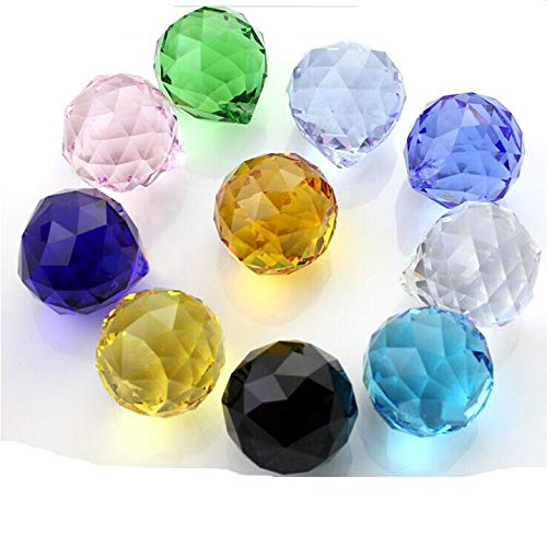 Kamas tools - 20pcs/lot 20mm mixed color crystal glass faceted ball for wedding&ball chandelier garland strand by Kamas