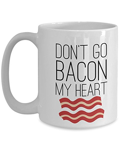 Dont Go Bacon My Heart Mug, Bacon, 11oz 15oz. Ceramic, Gift for Anniversary, Lover, Valentine's Day Gift, Couple