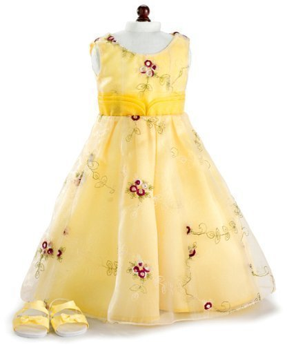 Amazon.com: Yellow Roses Holiday Party Dress & Shoes ~ Fits 18 ...