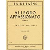 Saint-Saens Camille Allegro Appassionato Op43. For Cello and Piano. by Leonard Rose. International