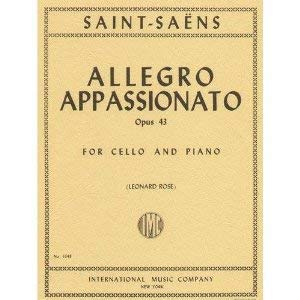Saint-Saens Camille Allegro Appassionato Op43. For Cello and Piano. by Leonard Rose. International ()
