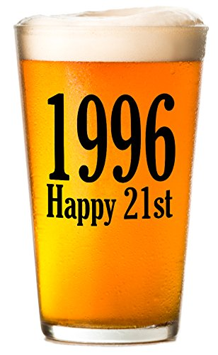 1996 - Happy 21st Birthday - Beer Glass