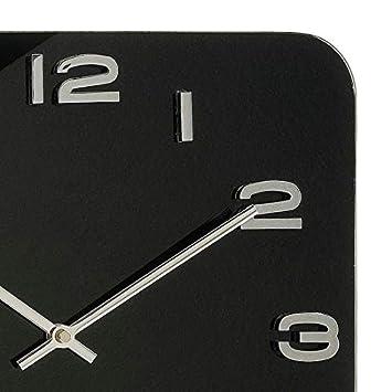 Karlsson Vintage Square Glass Clock – Black