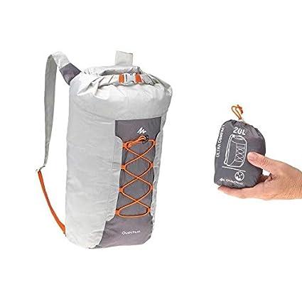 QUECHUA - Mochila plegable ultra compacta de 20 litros para acampada al aire libre festivales,
