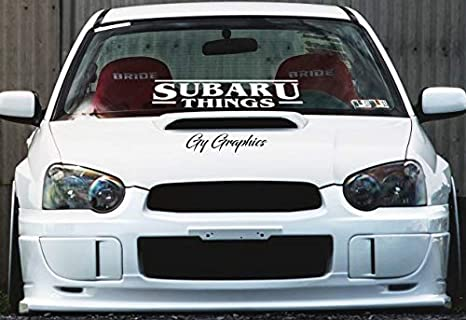 Subaru sticker window banner decal vinyl car graphic legacy outback forester brz