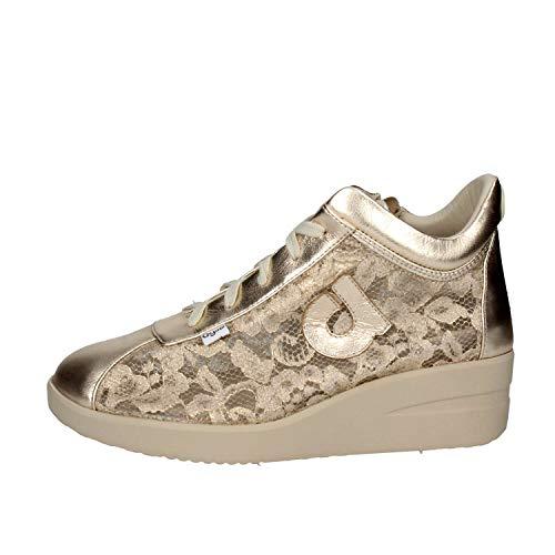 Zeppa N° Donna 226 Colore Sneaker Pizzo Pelle Scarpe Agile Rucoline Gold E 37 By 7qwPRSSWX