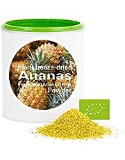Ananas en poudre - Lyophilisées|biologique|végan|crue|pure fruits|sans additives|riches en vitamins|Good Nutritions 120g