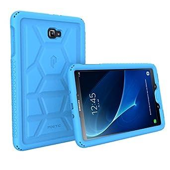 Galaxy Tab A 10.1 Funda– Poetic carcasa protectora de silicona resistente [protección esquina/parachoques] [sujeción] [altavoz] [Rejillas de ...
