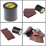 Expansion Roll and 25 Pieces Aluminum Oxide Heavy Duty Sanding Belts fit Metabo Roxx Tools Burnishing Machine abrasive belt rust remove deburring de-rust wood smooting plastic polishing