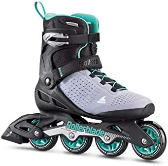 Rollerblade Zetrablade Elite Women s Adult Fitness Inline Skate, Black and Powder Blue, Performance Inline Skates