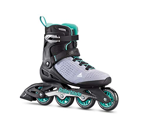 Rollerblade Zetrablade Elite Women's Adult Fitness Inline Skate, Black and Powder Blue, Performance Inline Skates (Elite In Line Skates)