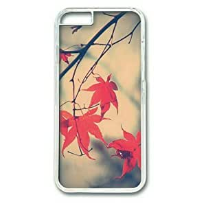 iPhone 6 Plus Case,PC Hard Shell Transparent Cover Case for iPhone 6 Plus(5.5Inch) Autumn Romance Maple Leaf Branch by Sallylotus by mcsharks