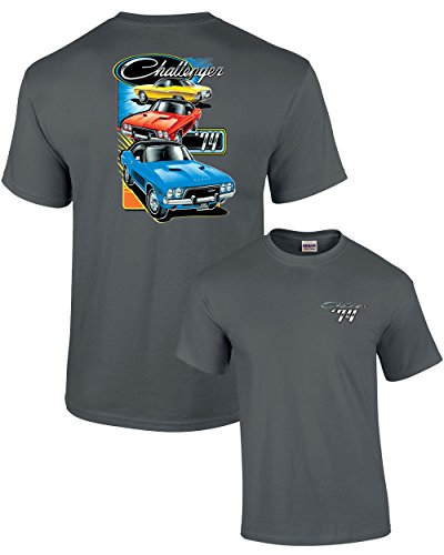 Dodge T-Shirt The 1974 Challenger Trio-Charcoal-XL