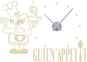 Grazdesign 800314si082 Wandtattoo Uhr Mit Uhrwerk Wanduhr Küche