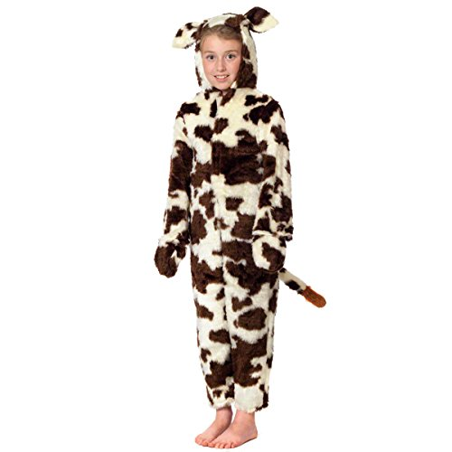 Charlie Crow Cow Costume for Kids 5-7 Years Brown and White