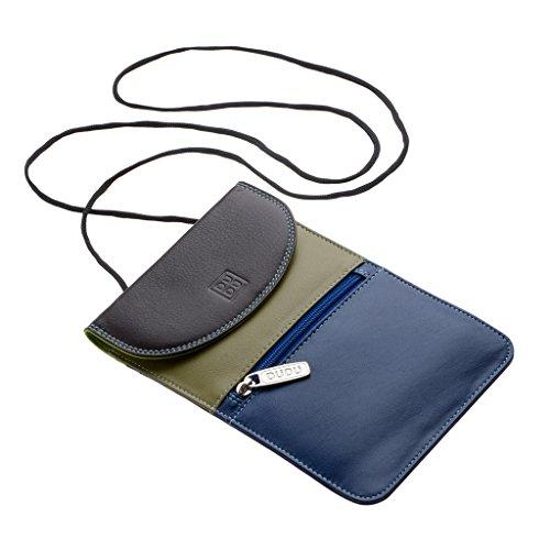 Bolso pequeño plano en piel para abajo del abrigo con cordel de DUDU Woods