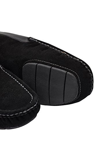 next Hombre Luxury Pantuflas Zapatillas de estar por casa Mocasines de ante Negro