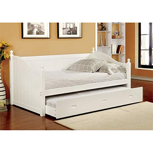 Furniture of America Emerson Twin Daybed with Trundle in White ()