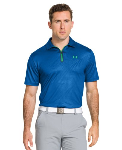 Under Armour Men's coldblack® Embossed Zip Polo Extra Large SUPERIOR BLUE