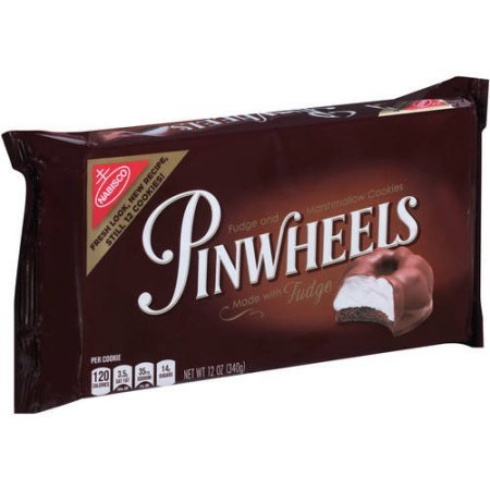 Nabisco, Pinwheels, Fudge and Marshmallow Cookies, 12oz Tray (Pack of 4) by Nabisco