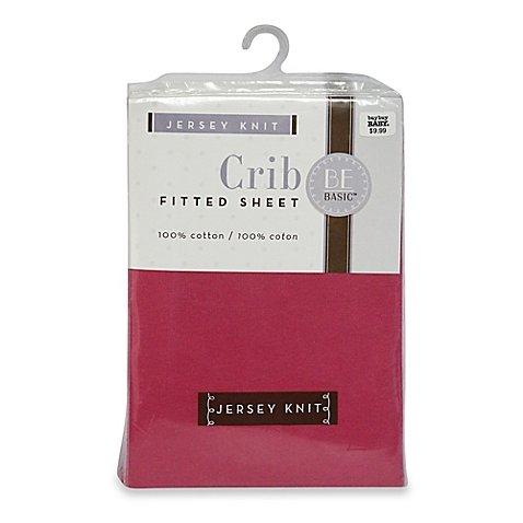 BE Basic™ Bambino Basics Jersey Knit Crib Sheet in Dark Pink