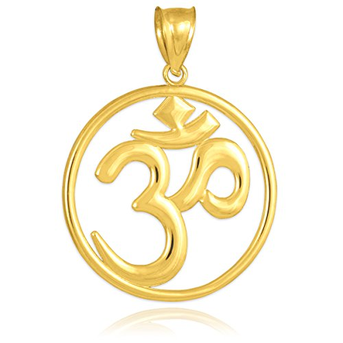 10 ct 471/1000 Or OM (Ohm) Medallion Ouvertwork- Pendentif