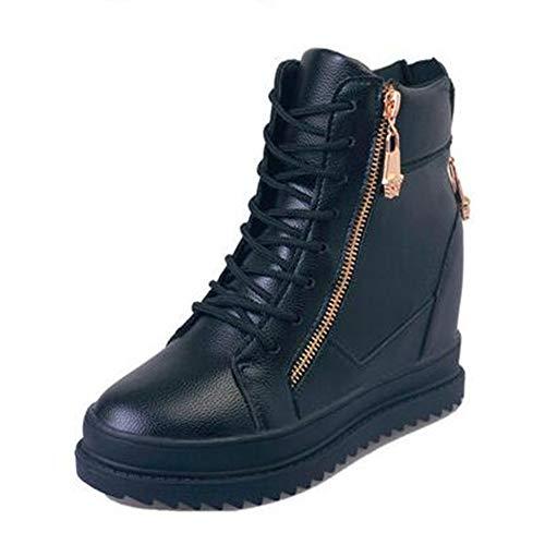 Sportive Da Sneakers Leggero Piattaforma Ammortizzazione Zeppe Scarpe Casual Alte Di Donna Ysfu Fitness Bianche Tela Sneaker Traspirante Outdoor nSWvpaU