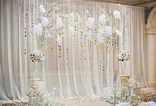 Yeele Wedding Backdrop 7x5ft Romantic Flowers Bride Groom Portraits Wedding Reception Decoration Love Engagement Party Background Sweet Anniversary Photos Bridal Shower Shoots Studio Props -