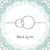 Collar Círculo del Karma Plata 925 - Collar Círculos Entrelazados Plata de Ley