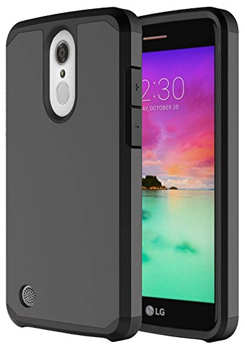 LG K20 V Case, LG K20 Plus Case, LG Harmony Case, LG Grace LTE Case, OEAGO Hybrid Shockproof Drop Protection Impact Rugged Case Armor Cover for LG K20 V K20V / K20 Plus / Harmony / Grace LTE - Black