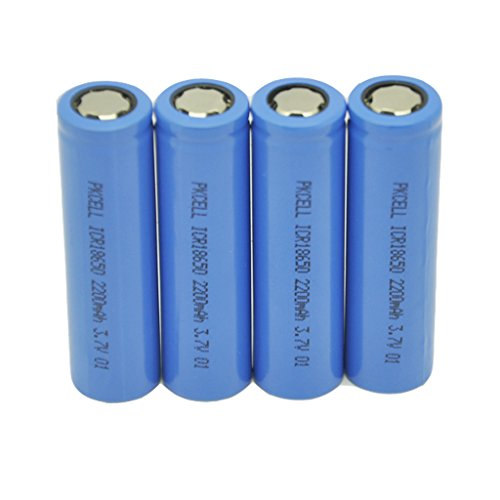 4PcsX 18650 2200mAh 3.7V Rechargeable Lithium Battery