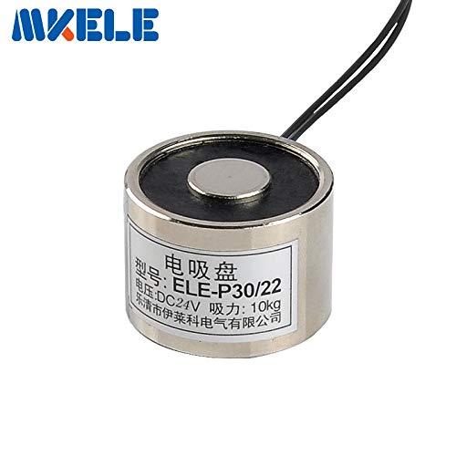 HATCHMATIC MK30/22 Holding Electric Magnet Lifting 10KG/100N Solenoid Sucker Electromagnet DC 6V 12V 24V Non-Standard Custom ()