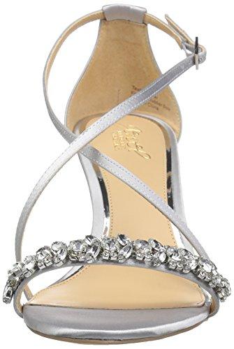 Sandal Jewel Mischka Silver Women's Badgley Little Wedge qUTgwB