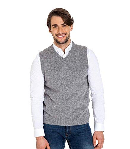 WoolOvers Pullunder aus Lammwolle für Herren Flannel Grey, XXL