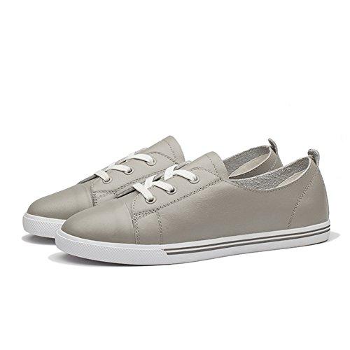 Giy Moda Donna Sneakers Stringate Basse Attillate Scarpe Sportive Outdoor Casual Casual Grigie