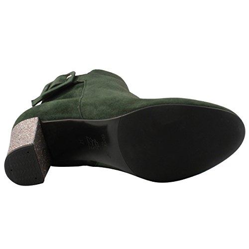 Exclusif Paris Women's Boots Green iw24DYevZM