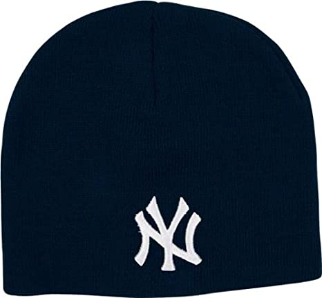 Amazon.com   MLB New York Yankees Men s Raised Knit Beanie 492a9782d83