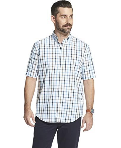 (Arrow Men's Short Sleeve Hamilton Poplin Shirt, Sapphire ice X-Large)