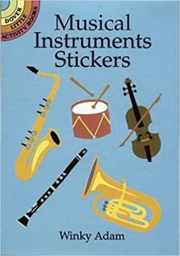 shiny musical instruments dover little activity books stickers
