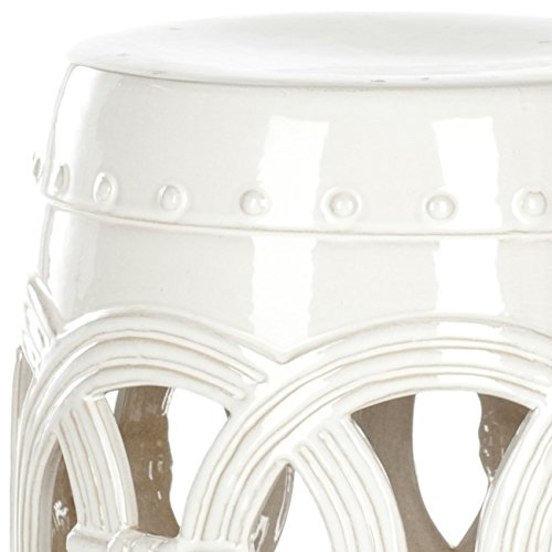 Safavieh Castle Gardens Collection Double Coin White Ceramic Garden Stool by Safavieh (Image #2)