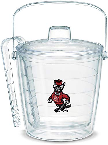 Tervis 1064498 NC State Wolfpack Wolf Ice Bucket with Emblem and Clear Lid 87oz Ice Bucket, Clear